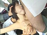 Japanese sucking orgy in the train