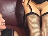 Close up cunnilingus in fishnets