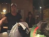 Japanese with huge boobs toyed in a bar