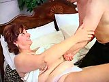 Nasty mature rammed and gets cum