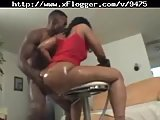 Big Booty Ebony Slut Riding On Sucked Dick