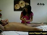 Handjob from masseuse turns into fucking