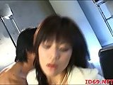 Japanese kitty banged in office