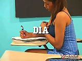 Dia banged by her teacher in class