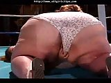Huge Boobs Bbw Wrestles A Midget Babe