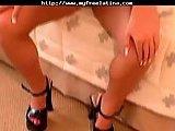 Sexy Latina drilling sideways