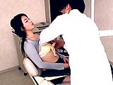 Perverted Dentist Fucks His Patient Pussy