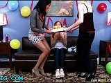 Teen babe fucked at bithday party