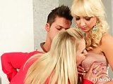 3some with blondies rubbing pecker