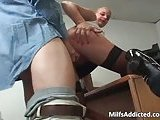 Country sexy slut in stockings fucked