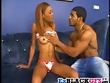 Ebony babe Sandy Brown gets rammed