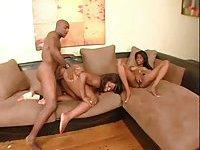 Ebony Threesome scene 1