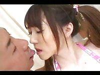Two cocks for Japanese slut