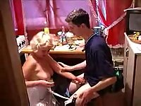 Hot mom pounded in the kitchen