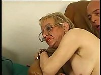 Fat Granny Hammered After Sucking