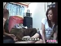 Japanese gf strips for her guy