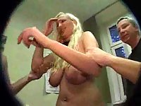 Dirty Blonde Gets Humiliating Gang Bang