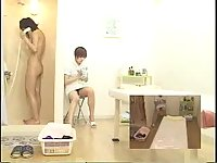 Oily massage for Japanese girl