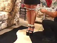 Redhead big tits bondage torture