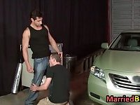 Married man having oral sex with gay