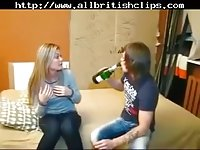 Blonde girl gets BF cock