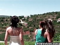 Super hot lady playing with her lesbian friend