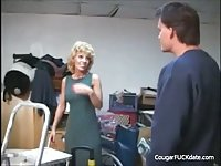 Cougar banged n the garage