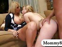 Beautiful teen and massive boobs mom fucked