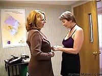 Mature Lesbians Office Sex