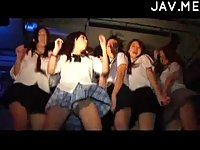 Dancing party from hot college girls