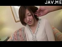 Japanese in pantyhose teased