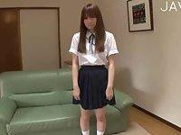 Shy Jap teen teasing