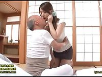 Hot Girl Takes Care Of A Grandpa
