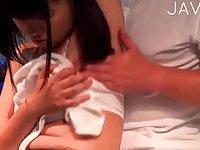 Slutty schoolgirl banged during massage
