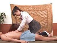 Hottie massaging guy