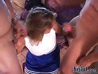 Roxy is a cheerleader scene 3