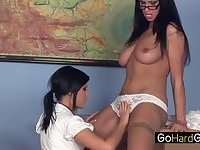 Lesbian Teacher Madison Parker fucks  Lisa Sparkle