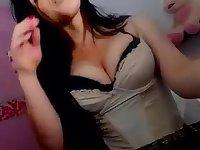 A sexy cutie teasing on webcam