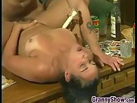 Hairy Granny Fucked At Home