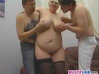 BBW With Big Tits In A Threeway