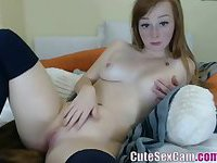 Amateur girl playing on web cam