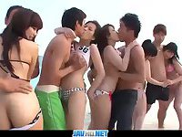 Subtitles - Outdoor orgy with beautiful japanese girls Kyouko Maki