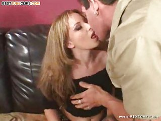 Hot Blonde Works With Hard Cock