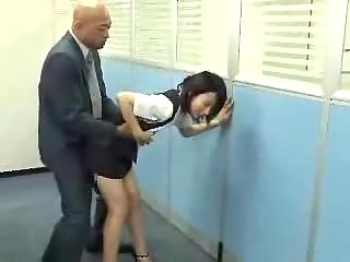 Public office sex with a Japanese tart