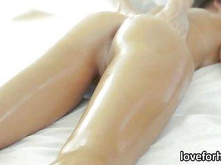 Lustful babe Dillion Harper massaged