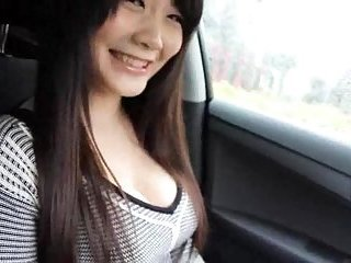 Busty chick gets teased in a car | Big Boobs Update
