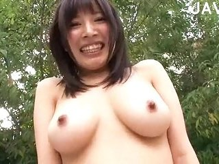 Big Breasted Babe Outdoor